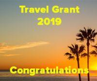 Congratulations – Travel Grant Winner 2019